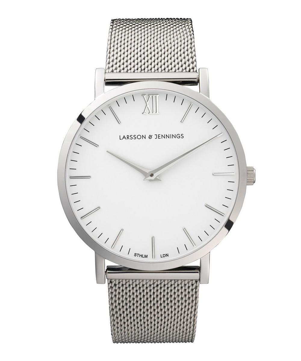 Lugano 40mm Silver-White Milanese Watch