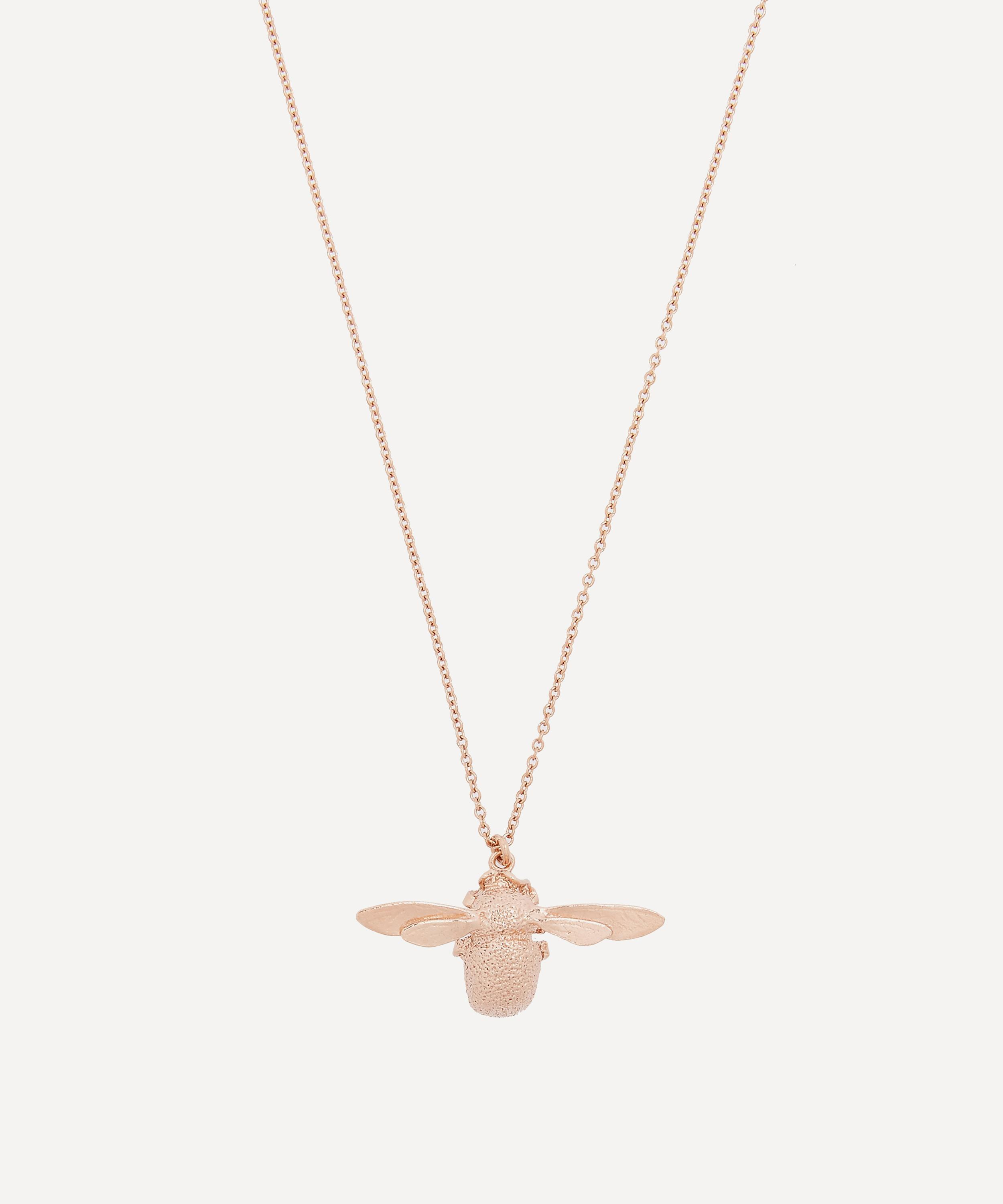 Rose gold vermeil bumblebee necklace liberty london rose gold vermeil bumblebee necklace aloadofball Gallery