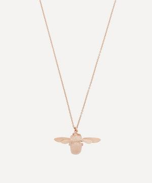Rose Gold-Plated Bumblebee Necklace
