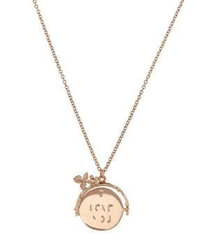 Rose Gold Vermeil I Love You Spinner Necklace