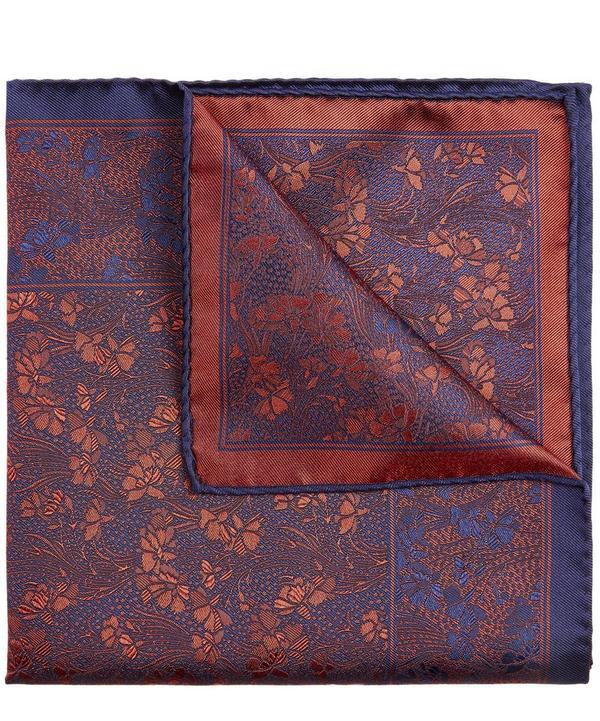 Liberty - Cranston Print Silk Pocket Square from Liberty London.
