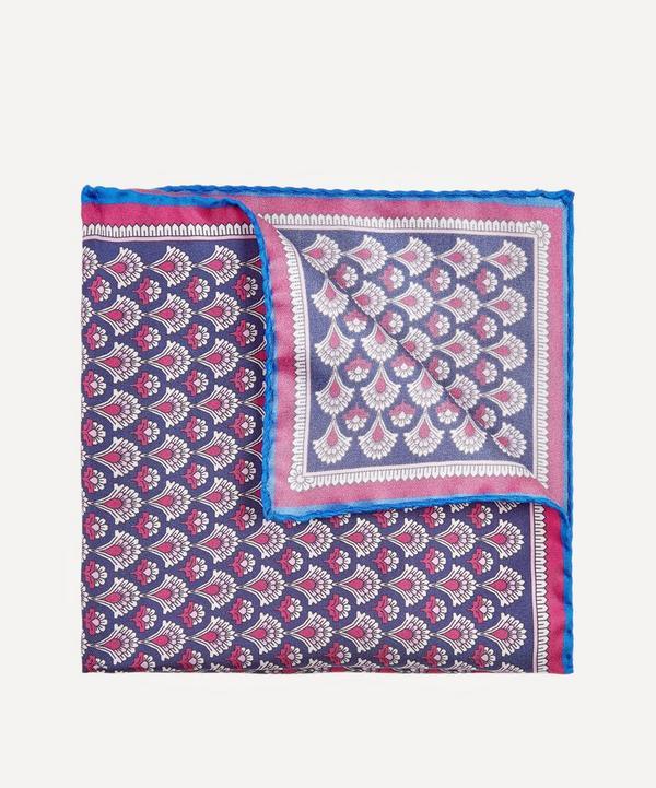 Liberty - Grey Fairlie Print Silk Pocket Square