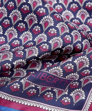 Grey Fairlie Print Silk Pocket Square