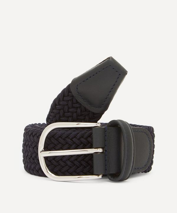 Anderson's -  Leather Trimmed Elasticated Woven Belt