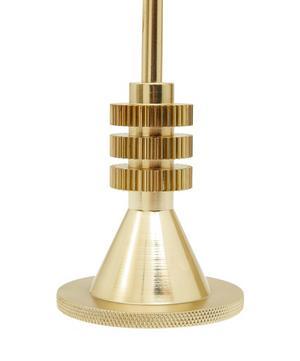 Medium Brass-Plated Candle Holder