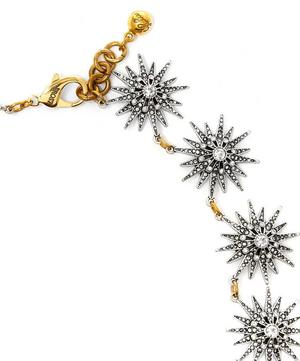 Silver-Tone Crystal Radiant Necklace