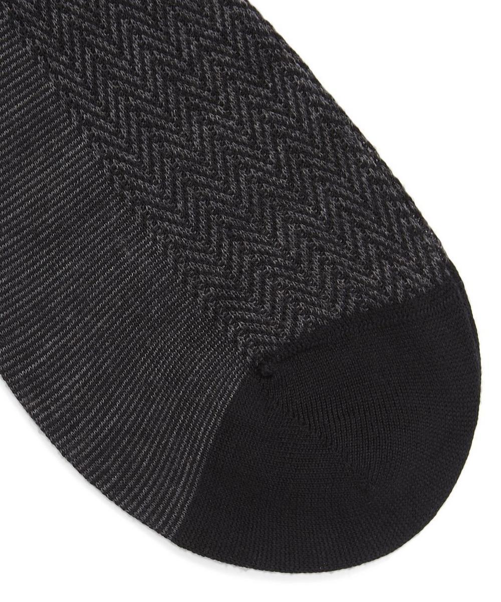 Finsbury Herringbone Merino Wool-Blend Socks