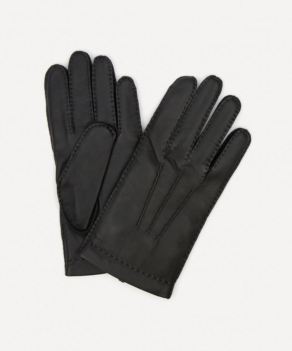 DENTS Chelsea Cashmere Lined Leather Gloves in Black