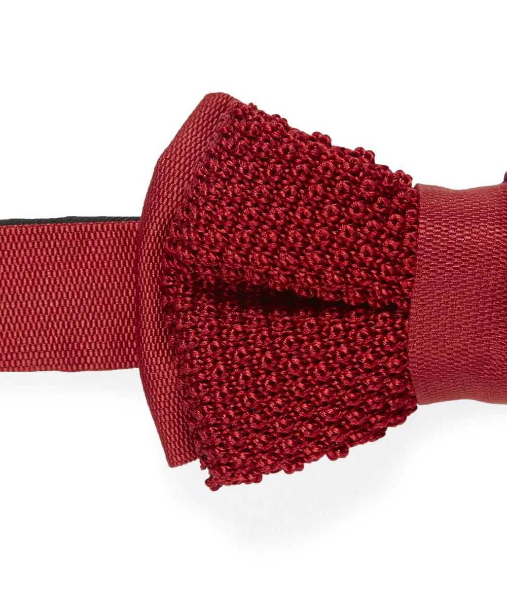 Knitted Silk Bow Tie