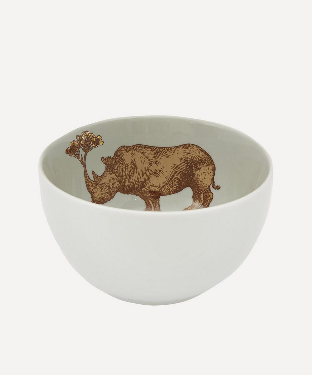 Rhino Porcelain Bowl