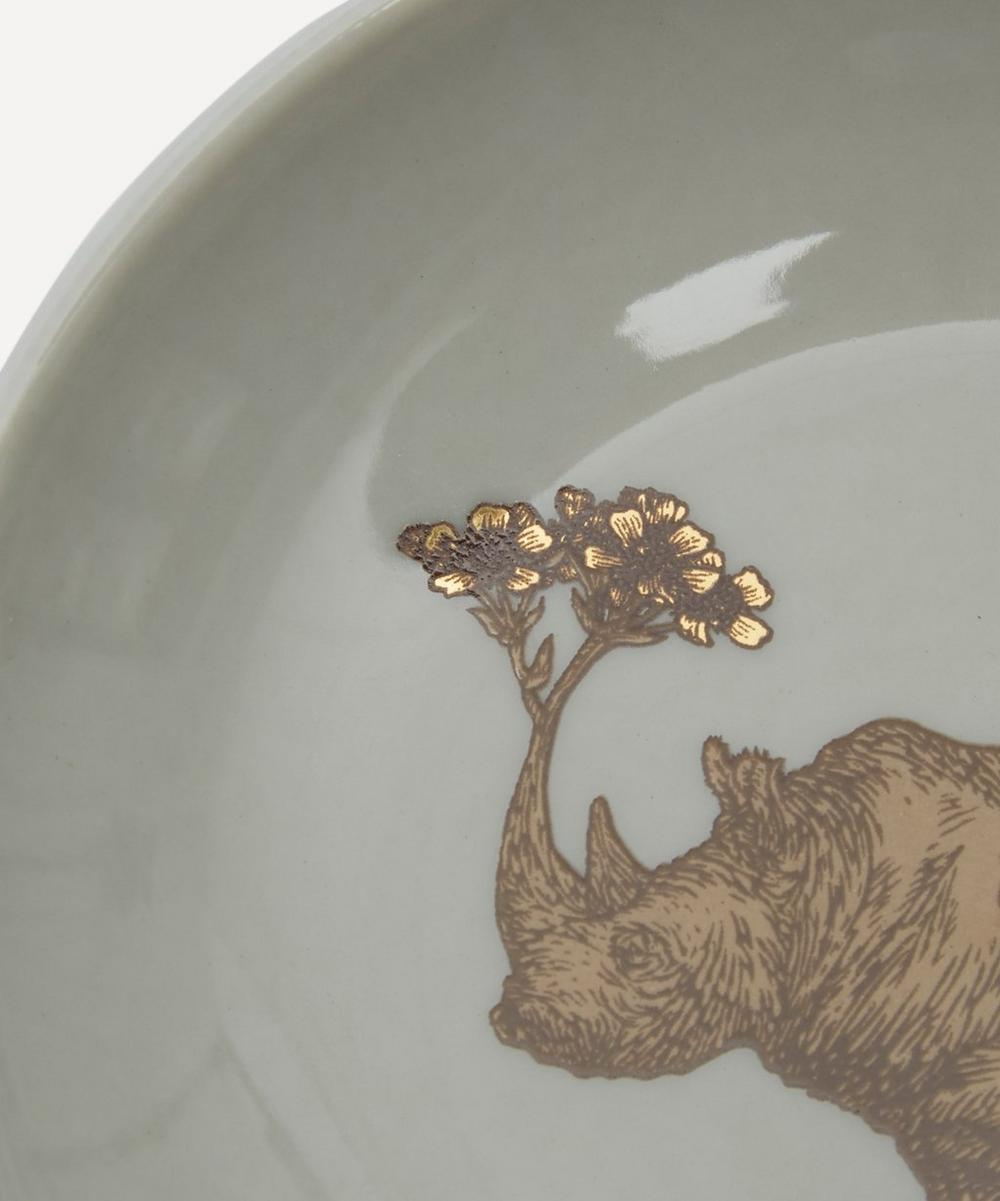 Small  Rhino Porcelain Plate