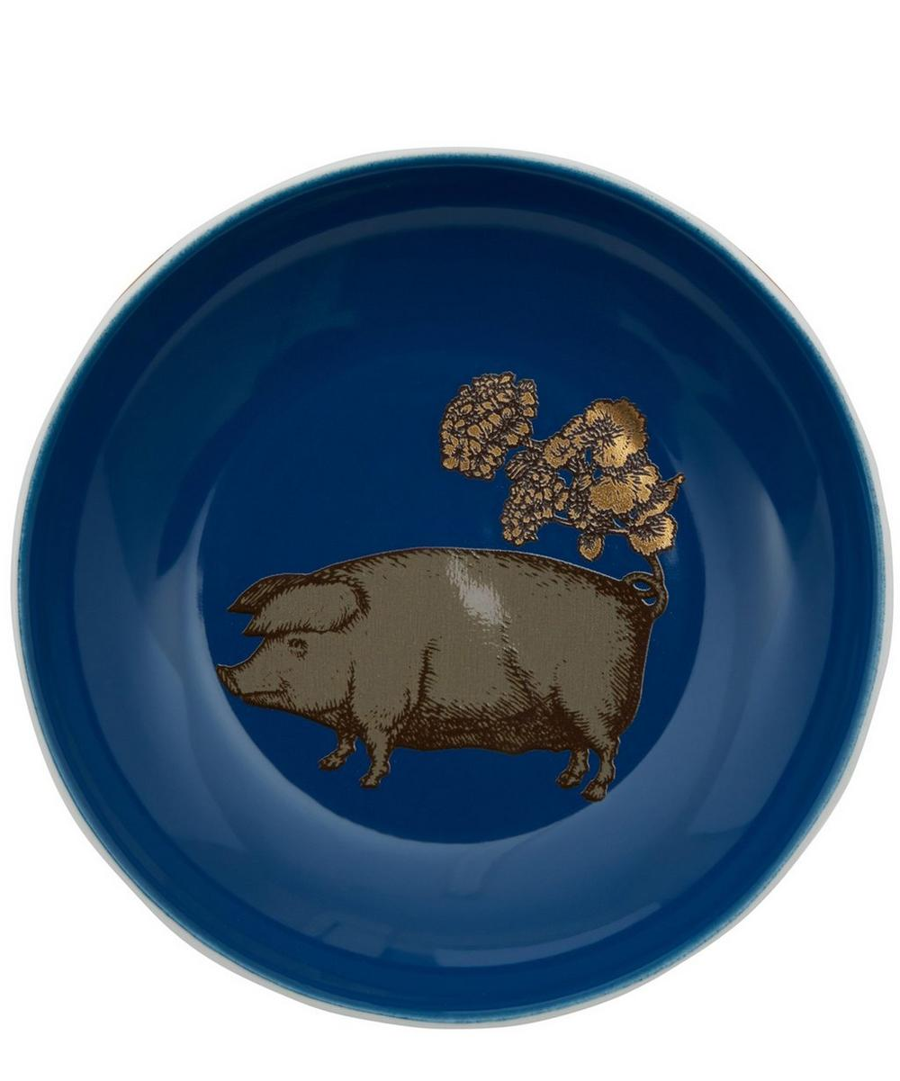 Small Pig Porcelain Plate