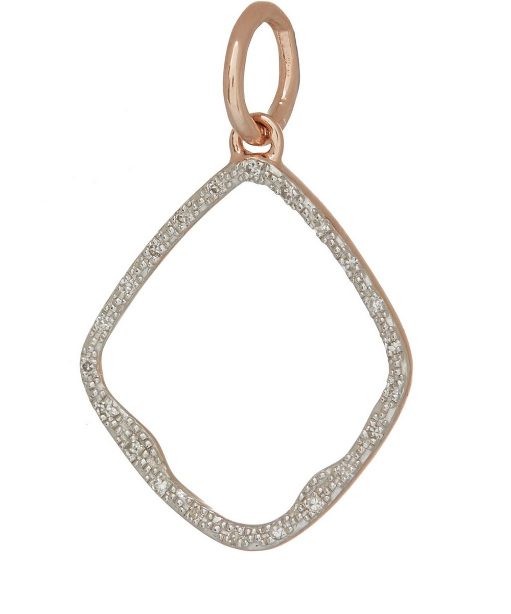 Rose Gold Vermeil Diamond Riva Hoop Pendant