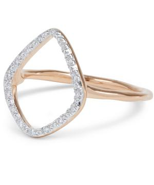 Rose Gold Vermeil Diamond Riva Hoop Ring