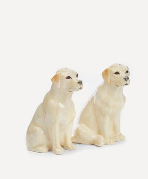 Golden Labrador Stoneware Salt and Pepper Shakers