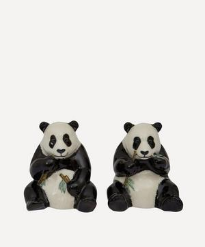 Panda Stoneware Salt and Pepper Shakers