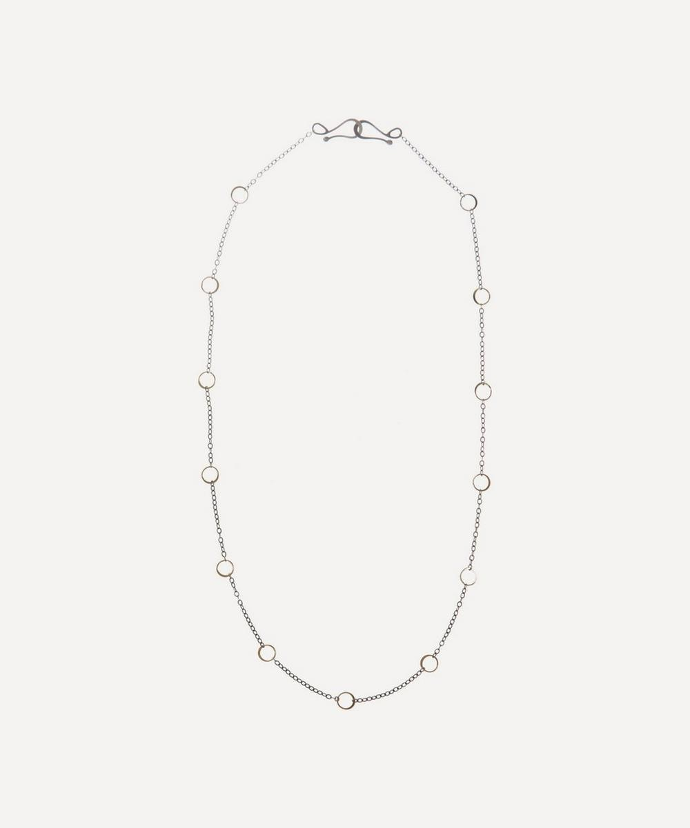 Melissa Joy Manning - Silver and 14ct Gold Round Link Chain Necklace