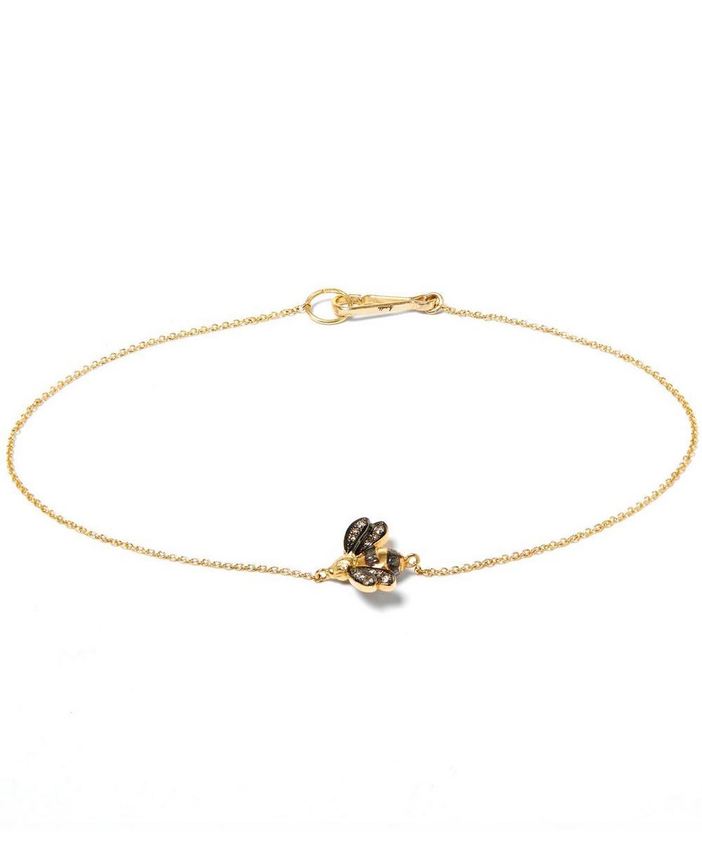18ct Gold Love Diamonds Bee Bracelet