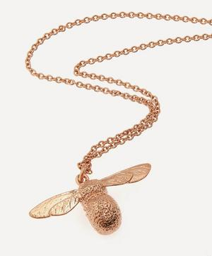 Rose Gold-Plated Baby Bee Necklace