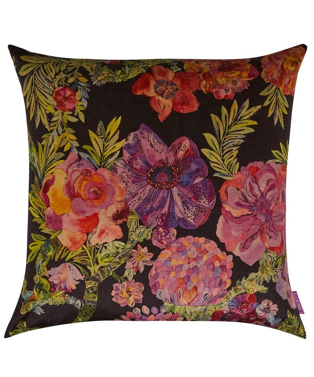 Jeffery Rose Tree Vintage Velvet Cushion In Orchard   Liberty London 60ef654c850