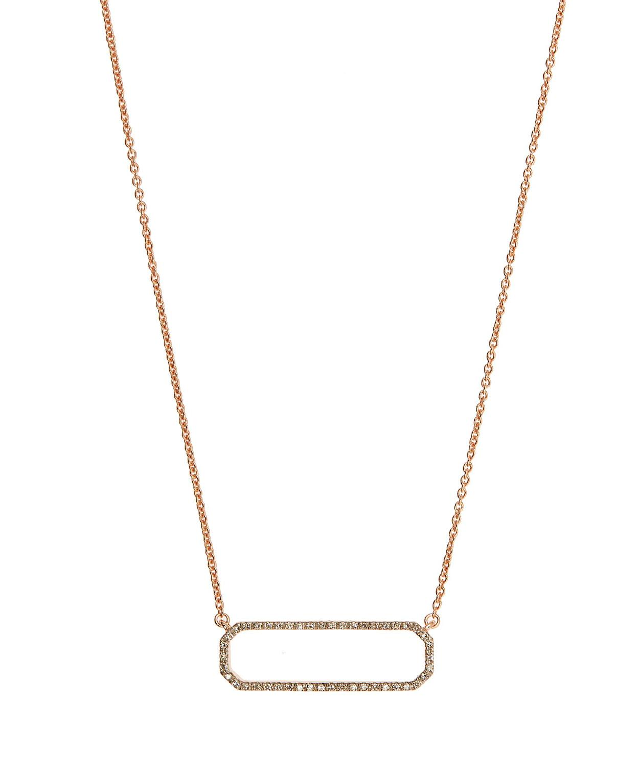 966651b3989d8 Rose Gold-Plated NAIDA Rectangle Necklace