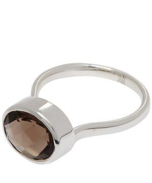 Silver Smoky Quartz Candy Ring