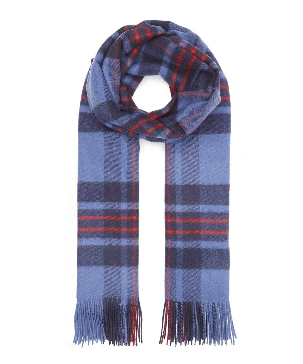 Checked Woven Cashmere Scarf