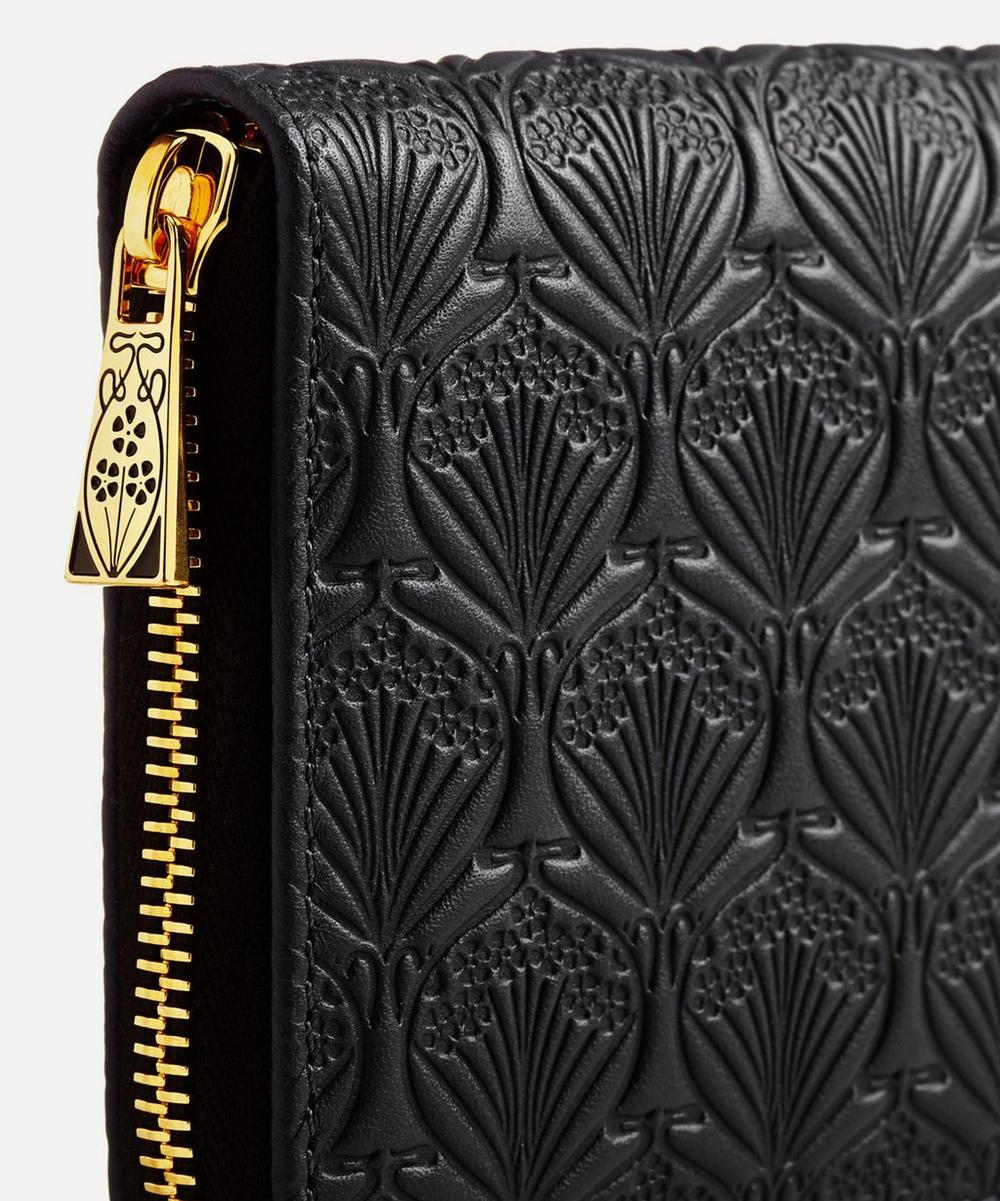 Large Zip Around Wallet in Iphis Embossed Leather
