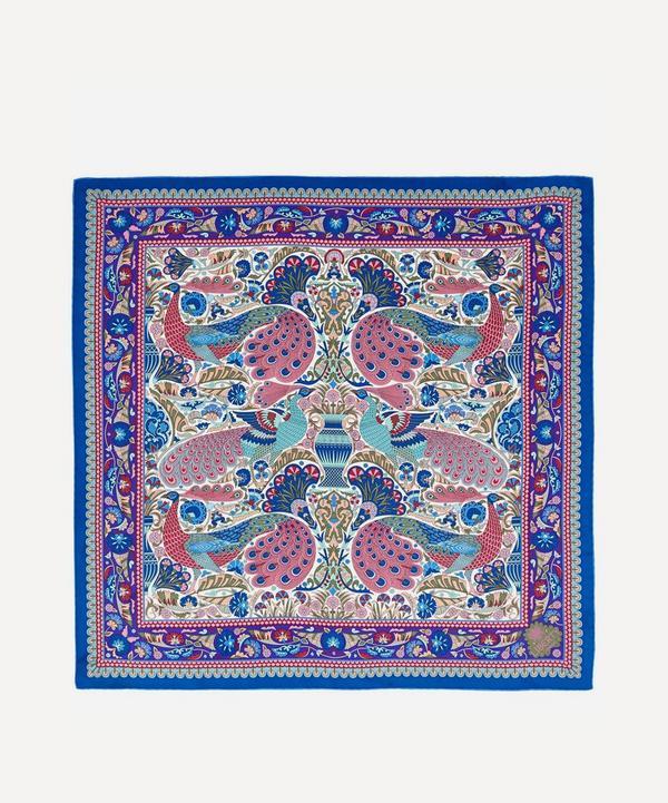 Peacock Mosaic 70x70 Silk Scarf
