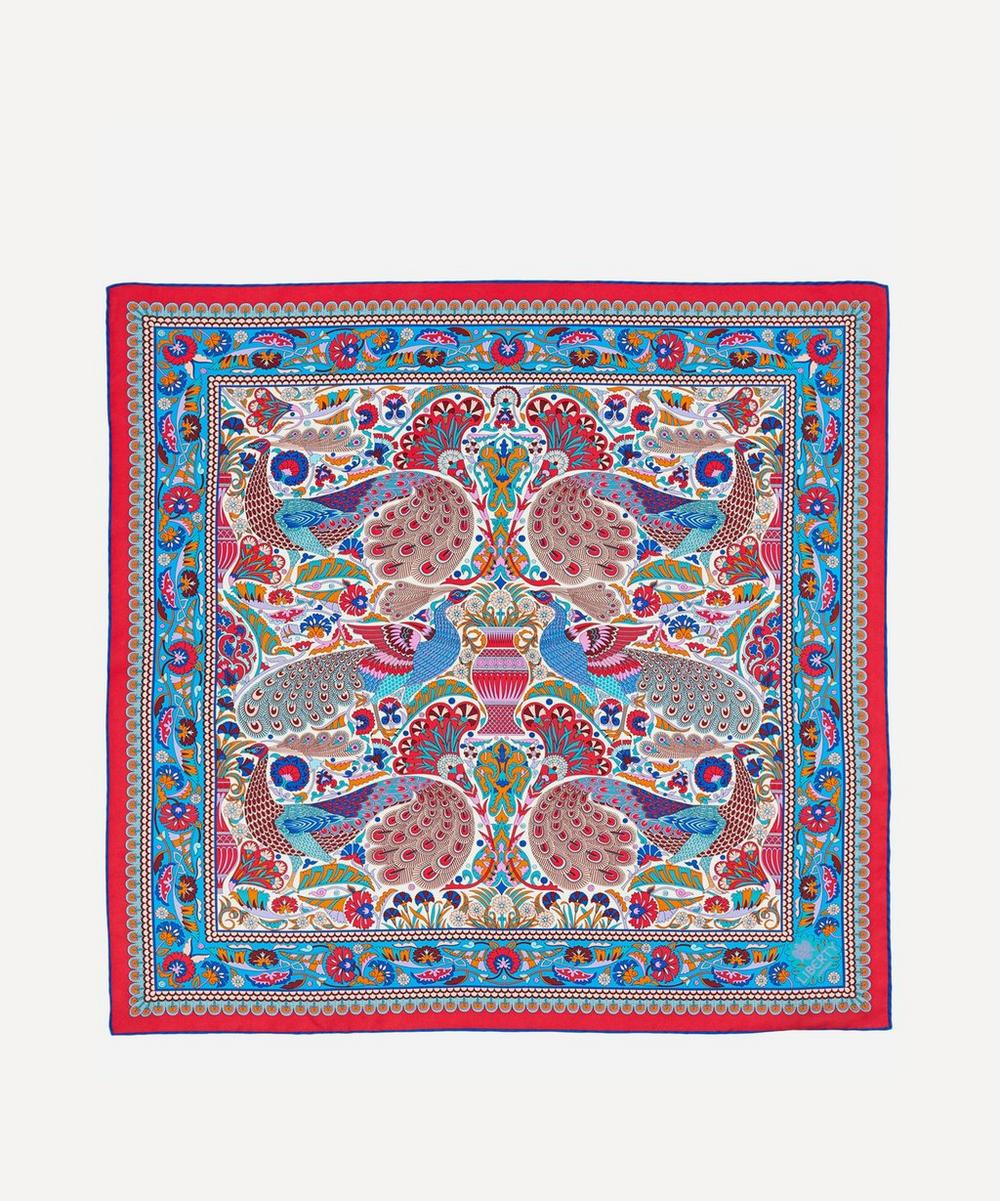 Liberty - Peacock Garden 70 x 70 Silk Scarf