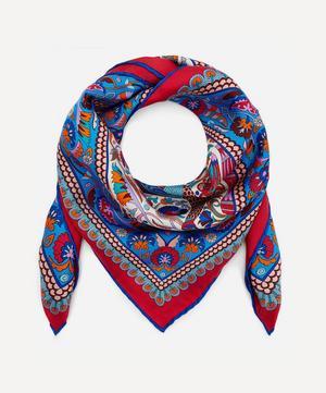 Peacock Garden 70 x 70 Silk Scarf