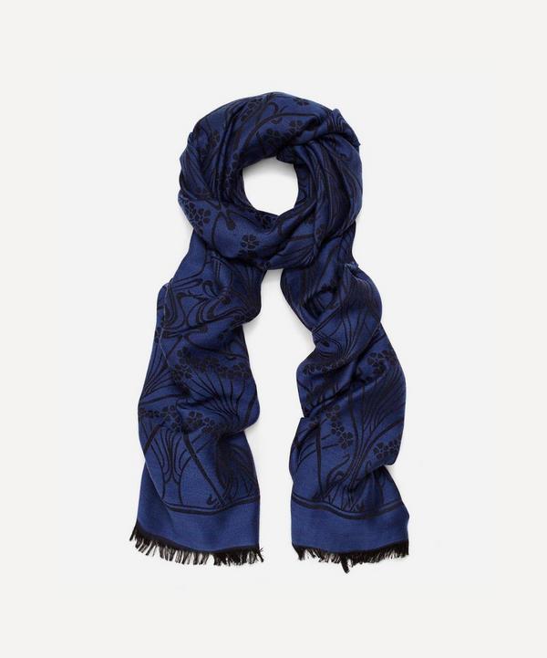 Ianthe 70x200 Jacquard Wool Blend Scarf