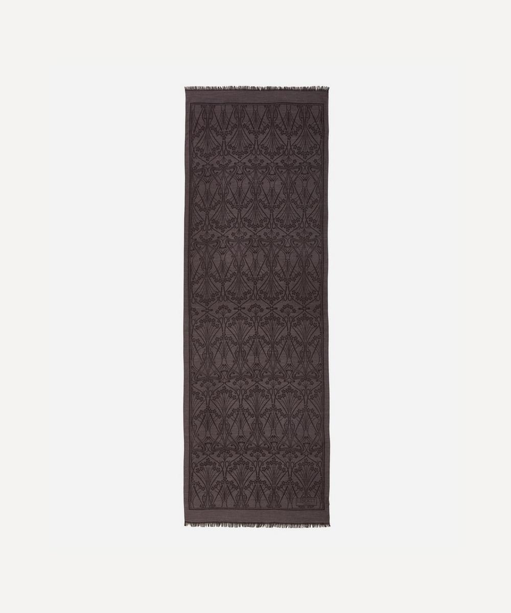 Ianthe 70 x 200 Jacquard Wool Blend Scarf