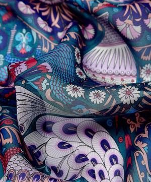 Peacock Garden 70 x 180 Silk Chiffon Scarf
