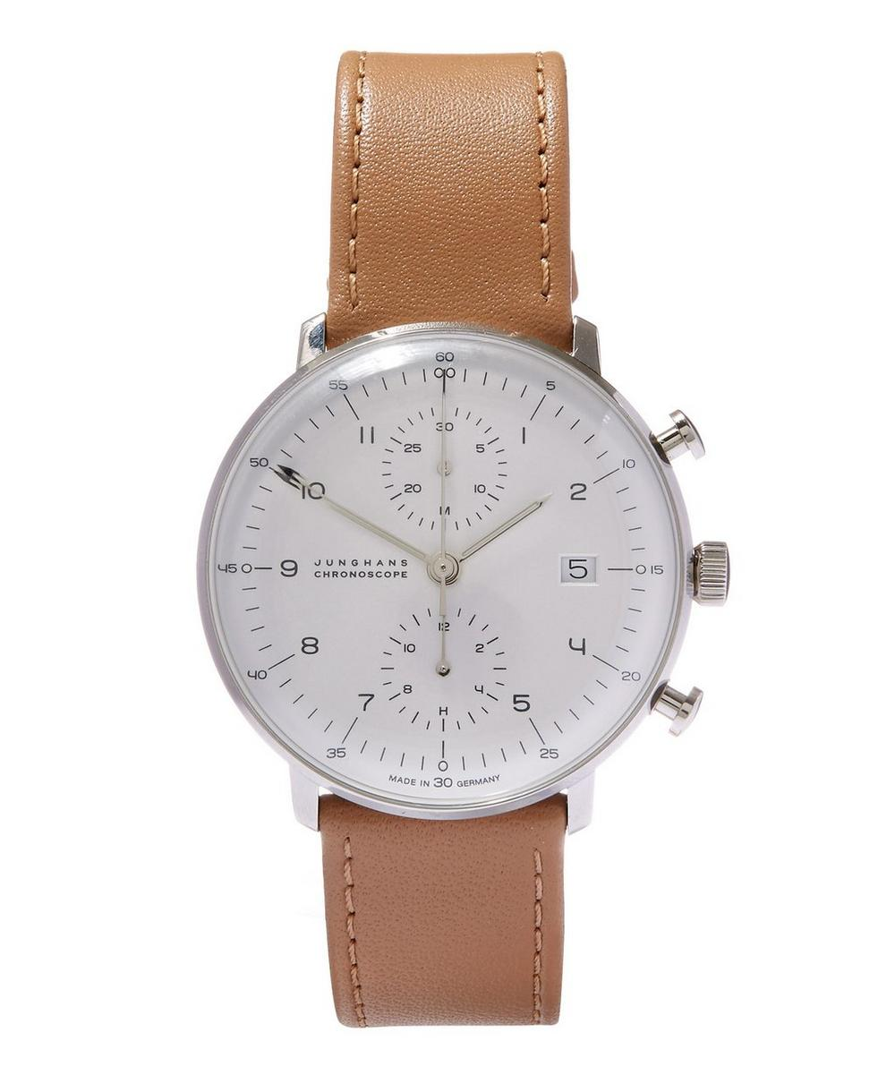 JUNGHANS Max Bill Chronoscope Watch in Cream
