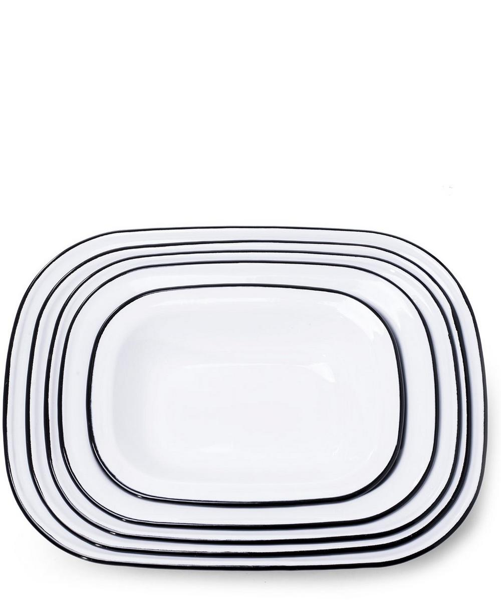 Enamel Pie Dishes Set of Five