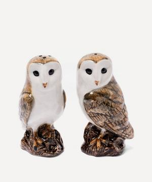 Barn Owl Stoneware Salt and Pepper Shakers