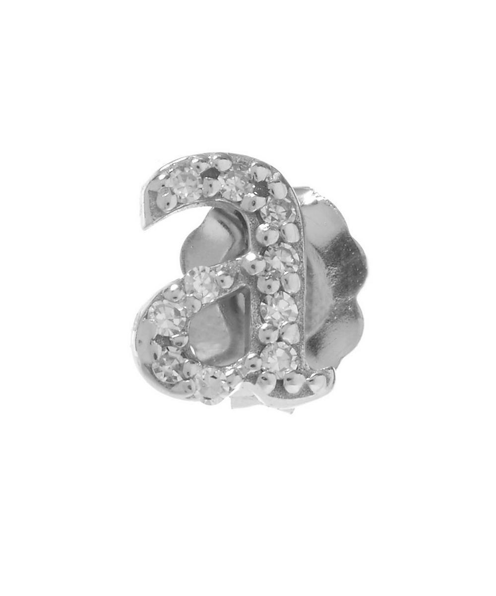 Rose Gold Diamond A Single Stud Earring