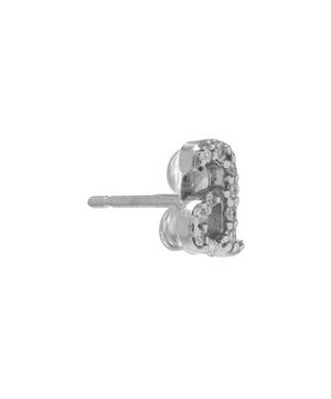 Rose Gold Diamond A Single Stud Earring