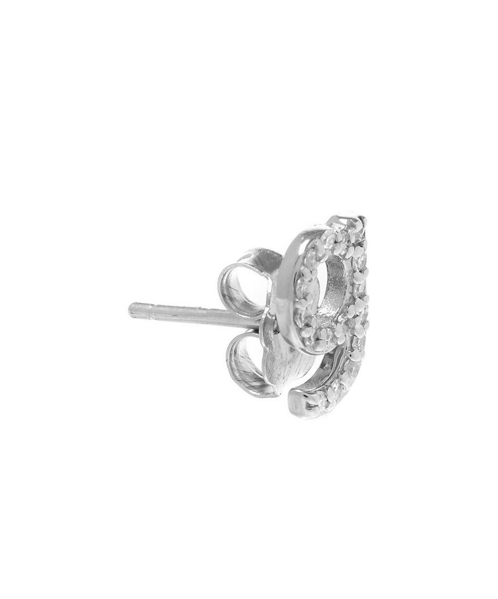 Rose Gold Diamond G Single Stud Earring