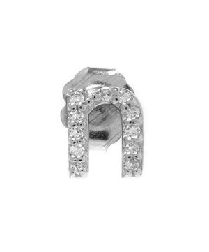 Rose Gold Diamond N Single Stud Earring