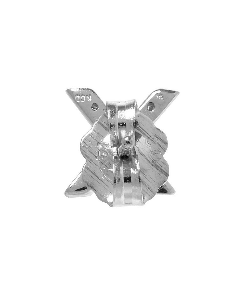 Rose Gold Diamond X Single Stud Earring