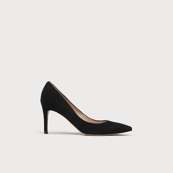 Fern Black Suede Closed Courts