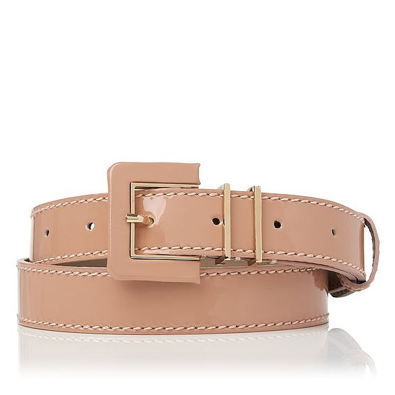 Gena Fawn Patent Leather Belt