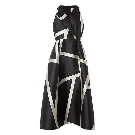 Aine Black Printed Dress