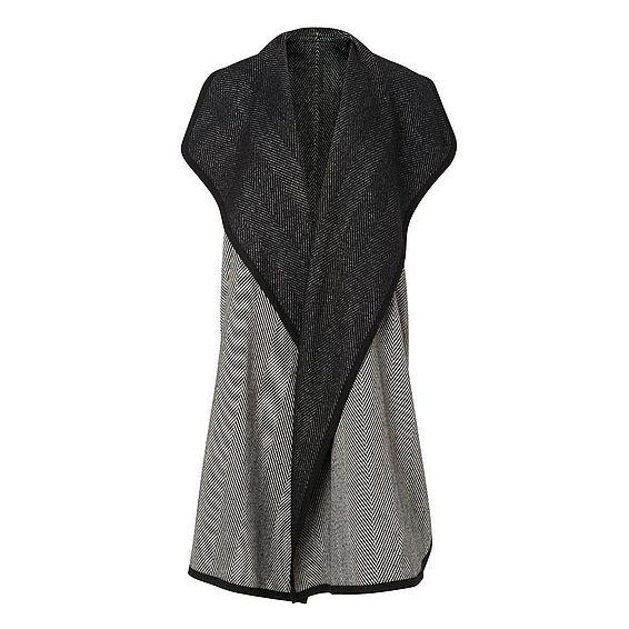 Cait Black Cream Wool Coat