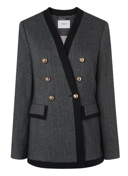 Catrin Black Cream Cotton Jacket