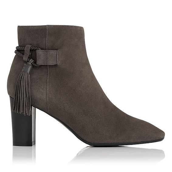 Charlotte Charcoal Suede Ankle Boots
