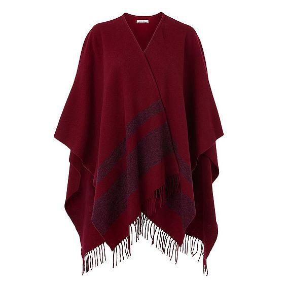 Claren Deep Rose Wool Cashmere Scarf