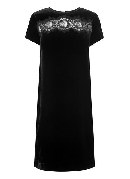 Rena Black Silk Dress